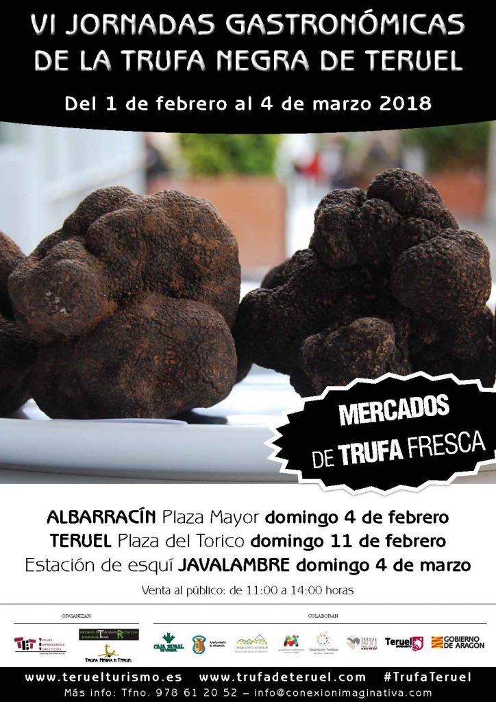 Cartel Mercados de Trufa Negra 2018 Teruel