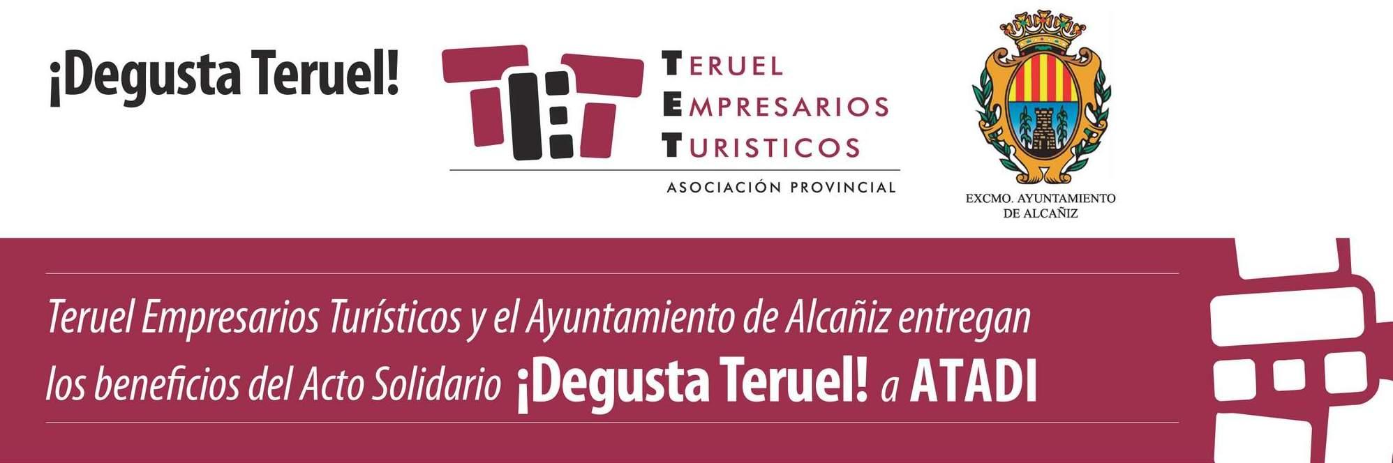 La TET dona 2.728 € a ATADI del evento DEGUSTA TERUEL 2018